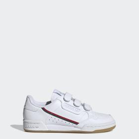 Baskets bébé fille à scratch Grand Court Adidas