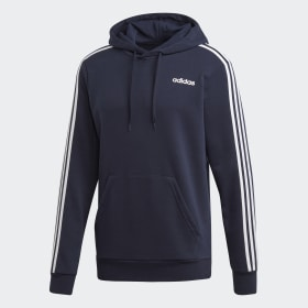 adidas Essentials 3 Stripes Full Zip French Terry Blaue