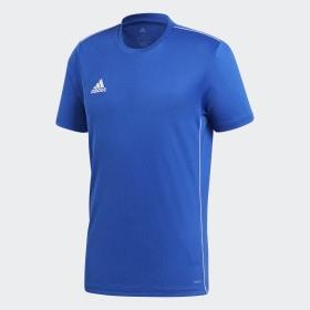 adidas - Camiseta entrenamiento Core 18 Bold Blue / White CV3451