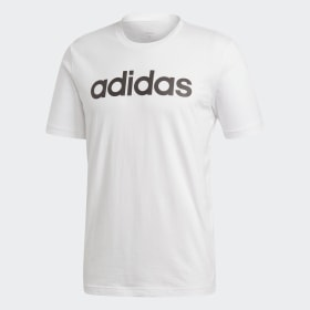 adidas - Essentials Linear Logo T-Shirt White / Black DQ3056