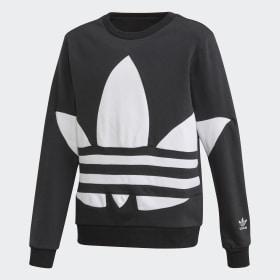 adidas - Big Trefoil Crew Sweatshirt Black / White FS1852