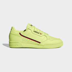 adidas - Continental 80 Shoes Semi Frozen Yellow / Scarlet / Collegiate Navy B41675