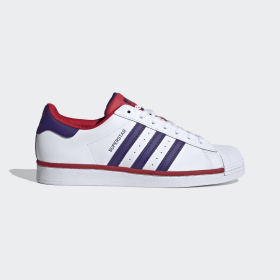 adidas - Superstar Shoes Cloud White / Purple / Scarlet FV4189