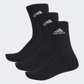 adidas - 3-Stripes Performance Crew Socks Black / White / White AA2298
