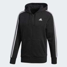 adidas - Essentials 3-Stripes Hoodie Black / White S98786