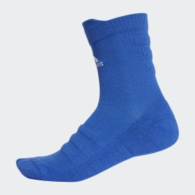 adidas - Alphaskin Lightweight Cushioning Crew Socks Bold Blue / White CV7430