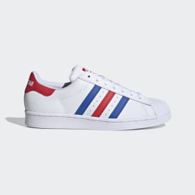 adidas - Superstar Shoes Cloud White / Blue / Team Collegiate Red FV2806
