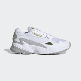 adidas - Falcon Shoes Cloud White / Gold Metallic / Grey Two FV5091
