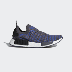 adidas - NMD_R1 STLT Primeknit Shoes Hi-Res Blue / Core Black / Chalk Coral CQ2388