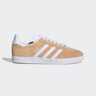 Women's Glow Orange & White Gazelle Shoes   adidas US