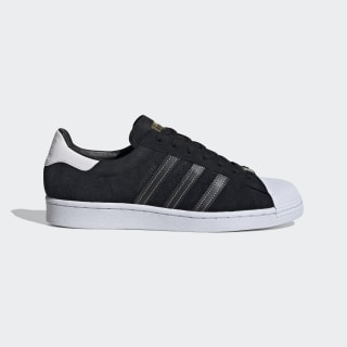 Men's Superstar Core Black and Gold Metallic Shoes   adidas US