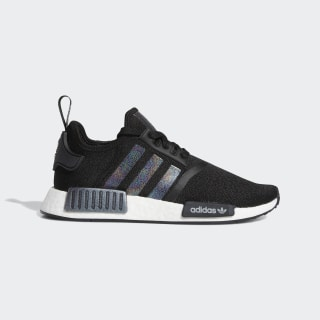 Women's NMD R1 Black and Metallic Silver Shoes | adidas US
