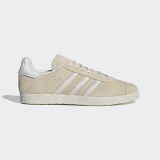 Gazelle Beige and White Shoes| adidas US