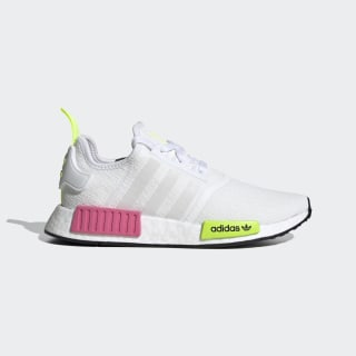 Women's NMD R1 White and Neon Green Shoes | adidas US