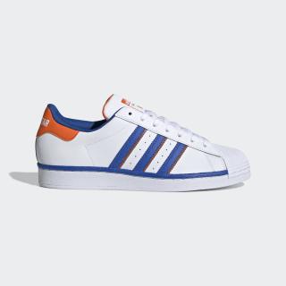 Superstar White, Blue & Orange Starting Five Shoes   adidas US