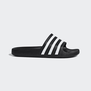 Men's Black & White adilette Aqua Slides | adidas US