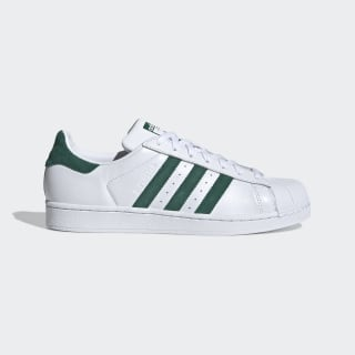 Men's Superstar Cloud White and Green Shoes | adidas US