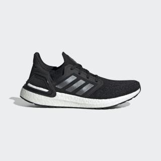Men's Ultraboost 20 Core Black and Night Metallic Shoes   adidas US