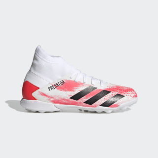 Adidas Scarpe Calcio Calcetto Football Predator 20.3 Laceless Turf Bianco
