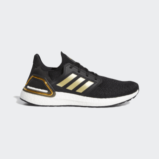 Men's Ultraboost 20 Core Black and Gold