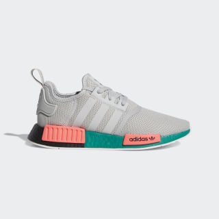 NMD R1 Grey, Pink and Green Shoes