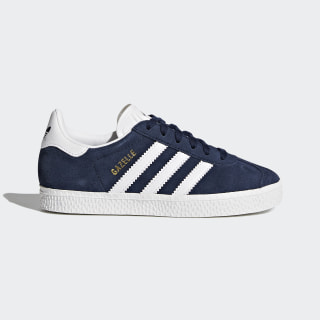 Gazelle Navy Blue and Cloud White Shoes