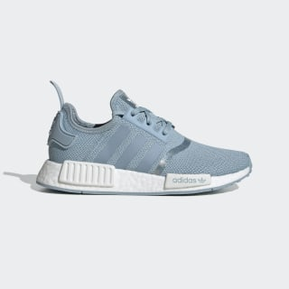 Kids NMD R1 Blue and White Shoes