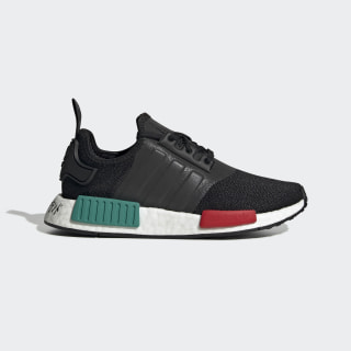 Kids NMD R1 Core Black and Green Shoes