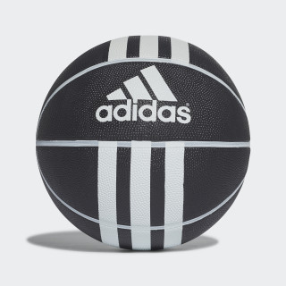 Bola de Basquetebol 3-Stripes Rubber Black/White 279008