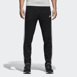 Pantalón 3 bandas Essentials Fleece Black / White BK7422