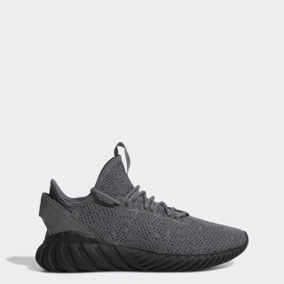 Tenis Tubular Doom Primeknit Tipo Calcetín GREY FOUR F17/CORE BLACK/FTWR WHITE BY3564