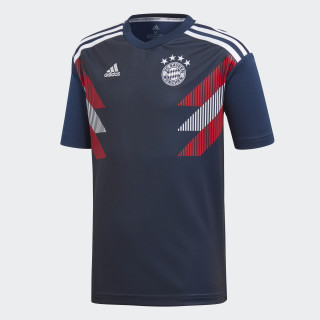 Camiseta calentamiento primera equipación FC Bayern Collegiate Navy / White CW5819