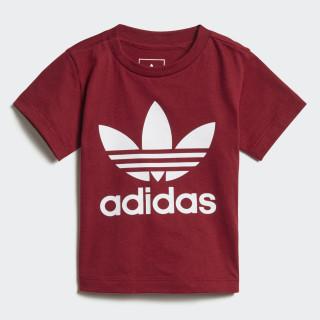 Camiseta Trefoil Collegiate Burgundy / White D96100
