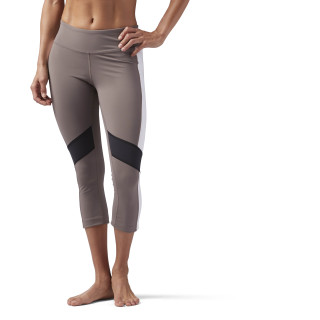 Lux 3/4 Legging - Color Block Smoky Taupe CF5865