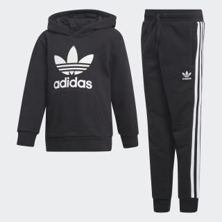 Trefoil hoodiesæt Black / White D98857