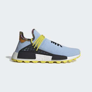 Pharrell Williams SOLARHU NMD Shoes Aero Blue / Core Black / Bright Orange EE7581