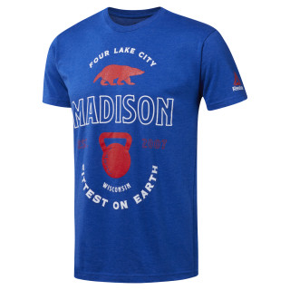 2018 CrossFit Games Crew Neck Tee Royal Blue CL0758