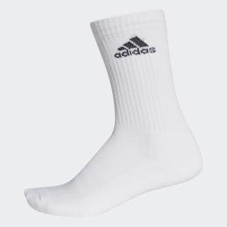 3-Stripes Performance Crew Socks 1 Pair White/White/Black AA2300