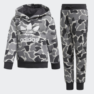 Conjunto pantalón y sudadera con capucha Camo Trefoil Multicolor / Carbon DH2470
