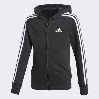 Veste à capuche Essentials 3-Stripes Black/White/White BP8622