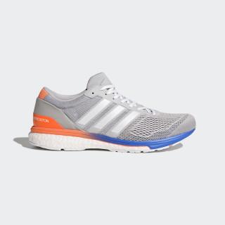 adizero Boston 6 Shoes Grey / Cloud White / Hi-Res Blue BB6415