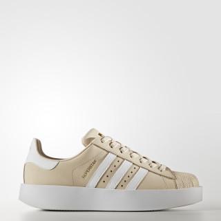 Superstar Bold Shoes Linen / Cloud White / Gold Metallic CG2886