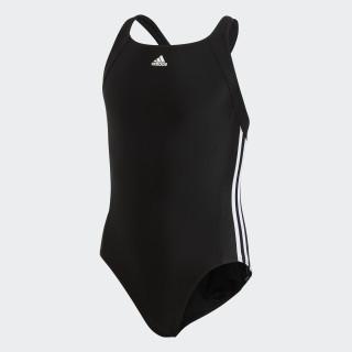 adidas Essence Core 3-Streifen Badeanzug Black/White BP5449