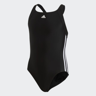 adidas essence core 3 stripes swim suit youth Black/White BP5449