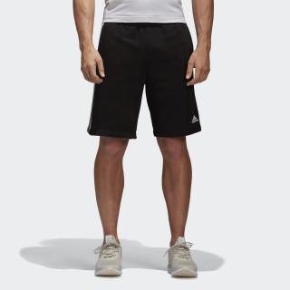 Šortky Essentials 3 Stripes Black/White BK7468