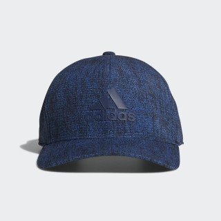Heathered Printed Snap Back Trace Royal CW0834