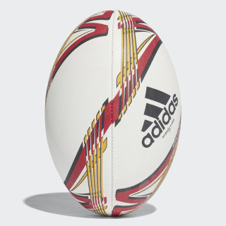 adidas Torpedo X-Ebit Rugby Ball White / Black / Collegiate Gold / Scarlet BS1942
