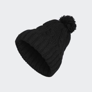 Solid Pompom Beanie Black CZ0224