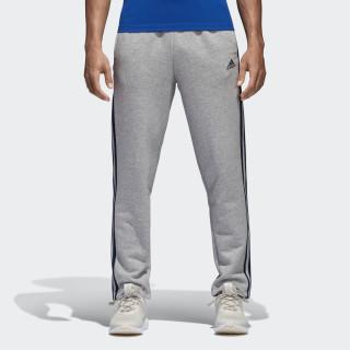 Essentials 3-Stripes Fleece Pants Medium Grey Heather/Collegiate Navy B47211