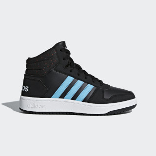 Hoops 2.0 Mid sko Core Black / Bright Cyan / Ftwr White B75749